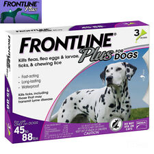 Frontline Plus Flea and Tick Treatment for Large Dogs (45-88 Pounds) - 3 Doses