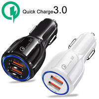 Dual Car Charger Adapter 2 USB QC3.0 36W Fast Quick Charging Certified Universal