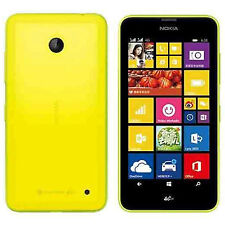 Nokia Lumia 630 Yellow Sim Free Unlocked 4.5inch-1.2Ghz Quad 5MP Cam-Single Sim