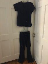 Greys anatomy scrubs set navy blue size small top and xxs tall pants