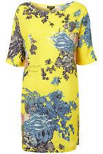 Topshop Lemon Lotus Stampa T-SHIRT DRESS UK 6 EURO 34 US 2 NUOVO CON ETICHETTA