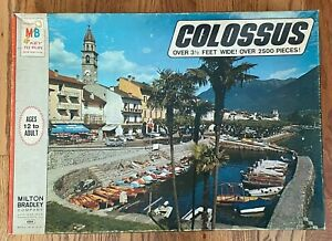Vintage Colossus Anscona, Switzerland Jigsaw Puzzle 1973 SEALED #4384 USA 2500pc