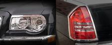 Chrysler 300C 2005 2006 2007 Headlight & Taillight Chrome Trim Set (trims only)