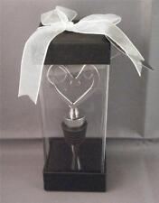 "NIB Vineyard Collection Silver Chrome Heart Shaped Wine Bar Bottle Stopper 4.5"""