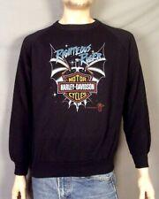 vintage 80s NWOT unworn 1987 Harley Davidson Sweatshirt Righteous Ruler Space L
