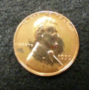 1959 P Lincoln Memorial Cent Proof US Coin # 0082