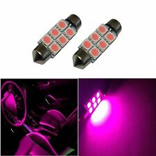 2 Hot Pink 42mm 578 LED 211-2 Bulbs Festoon 5050 Dome Map Cargo Light 2xE5