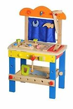 Lelin Childrens Kids Wooden 49 Pcs DIY Construction Work Bench Tool Set Play Toy
