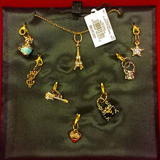 NWT Juicy Couture Seven Day Of Couture Charm Pendant Necklace Set $98
