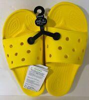 New Iconic Crocs Comfort Women's Size 6 Men's Size 4 Unisex. Lemon color