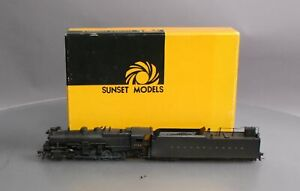 Sunset Models HO BRASS PRR 2-10-0 i-1 Steam Locomotive & Tender w/DCC/Sound/Box