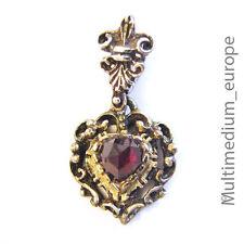 Silber Anhänger Herz Granat silver pendant heart garnet