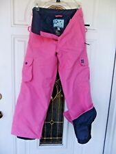 "BURTON Girls sz M [26""x25""] PINK Insulated SKI SNOWBOARD CARGO PANTS [snowflake"