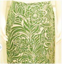Ann Taylor Skirt Size 6 Skirt Green Skirt Tropical Skirt Summer Skirt Designer
