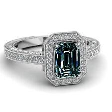 3ef47907dfdb 3.17ct VVS1   Marrón Verde Esmeralda Moissanita Diamante Anillo De Plata Y  Blanco