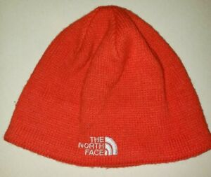 THE NORTH FACE orange LINED KNIT BEANIE WINTER HAT one size fits most CLEAN @@