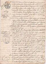1838 6 pagina documento in Italiano-Circolare Compresse-Stati Italiani-ITALIA