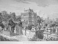 ITALY Rome Villa Pamfili !! Antique Print Engraving