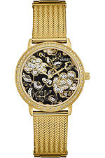 GUESS W0822L2,Ladies Dress,Stainless Steel,Gold-Tone,Crystal Accented Bezel,30m