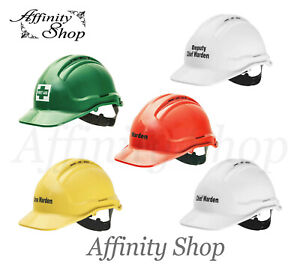Printed Hard Hats First Aid, Warden Force360 Aus Made! Safety Helmet AS/NZS Cert
