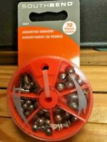 SOUTH BEND ASST SINKERS 72 CT IN DIAL CONTAINER NEW