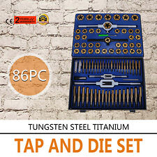Metric Tap and Die Tool Kit Set HSS 86pc with Case Threader New FREE SHIPPING