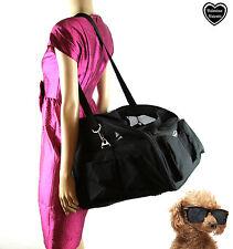 Valetina Valentti Luxury Dog Cat Puppy Pet Car Seat Carrier Large, Black V3