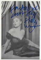 Picture card signed by actress ~ Shelley Winters