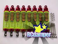 ALUMINUM SHOCK DAMPER 8PCS RED ASSOCIATED MONSTER GT .21 4.6 8.0 MGT TEAM ALLOY
