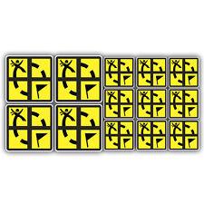 13x geocaching stickers labels Geocache decals
