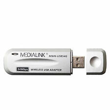 MediaLink Wirelss USB Internet Adapter Wireless-G MWN-USB54G 802.11G 802.11B