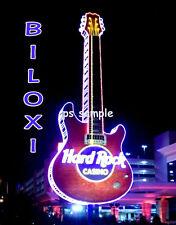 Mississippi BILOXI HARD ROCK CASINO night - Flexible Fridge Magnet
