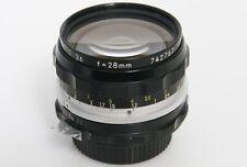Nikon Nikkor-H 28mm f3.5 Non-Ai Mount lens