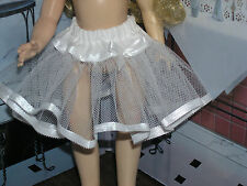 "White Nylon Net Slip Petticoat Crinoline 14"" Doll clothes fits Ideal Toni P-90"