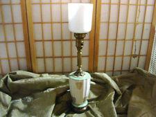 Vintage Italian  Art Deco JADEITE bottom glass Torchiere Table Lamp hand Paint