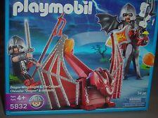 Playmobil 5832 Dragon Wing Knight and Fire Cataplut NIB New 10x8x3 2 pounds