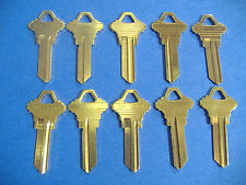 Lot of Ten Locksmith Sc1 Key Blanks Fits Schlage Solid Brass Made in USA