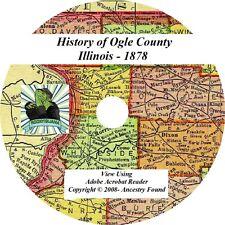 1878 History & Genealogy of OGLE County Illinois IL