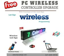 LED Sign Programmable Scrolling Message - 15'' x 40'' 7 colors WiFi - Wireless
