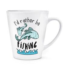 Prefiero ser la pesca 12 OZ (approx. 340.19 g) café con leche Taza Taza-Divertido Deporte Peces