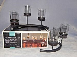 Centerpiece Two-Piece Set - 6 Votive Cups - For Use with Tealights Candles