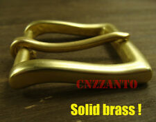 """Solid Brass Vintage Classical Tongue Pin Hippie Belt buckle Buckles 1.5 """" Z257"""
