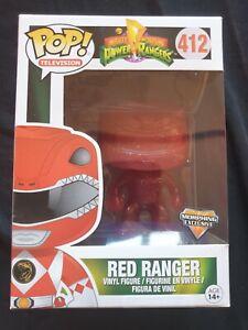 RED RANGER Mighty Morphin Power Rangers Morphing Funko Pop Figure 4 Inch