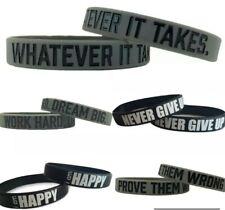 Motivational Silicone Wristbands unisex Rubber Sport Bracelet Rubber