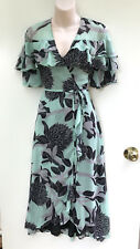 LEONA EDMISTON *Leona* Mint Colour Faux Wrap Ruffle Dress sz 8 NWT Rrp $169.95
