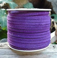 Lace Lacing Leather Suede Purple 25 Yds Made In Usa