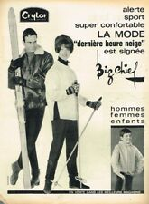 A- Publicité Advertising 1963 Vetements de Ski Hiver Big Chief
