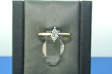 Women's 14k yellow gold diamond solitaire engagement ring marquise .30 carat