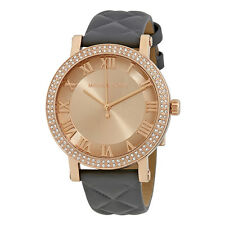 Michael Kors Norie Rose Gold Tone Dial Ladies Leather Watch MK2619