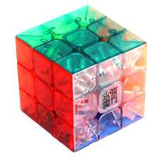 New 3x3x3 Professional Stickerless Speed Magic Cube Rubiks Puzzle, Transparent